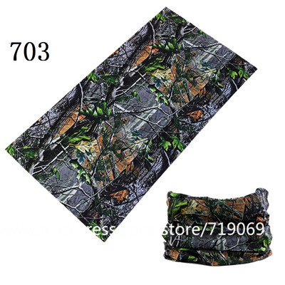 Camouflage Leaves Seamless Tubular Magic Bandanas Tube Ring Scarf Climbing Bicycle Multi Functional Bandana Headband