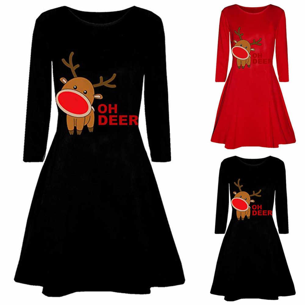 fbedfd62b91 Desire 35   DROPSHIP Новое поступление модное женское платье рождественское  платье с принтом элегантное с вечерние