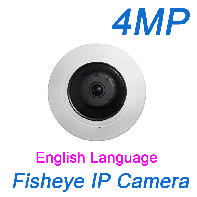 Fisheye IP Camera 4MP 360 Degree Panoramic ePTZ IR PoE SD TF card onvif security CCTV