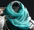 Gradiente Lenço De Seda verde Mulheres Varejo Achecol masculino verão protetor solar Senhoras Cachecóis Wraps Cachecol Hijab Xales e Margarida