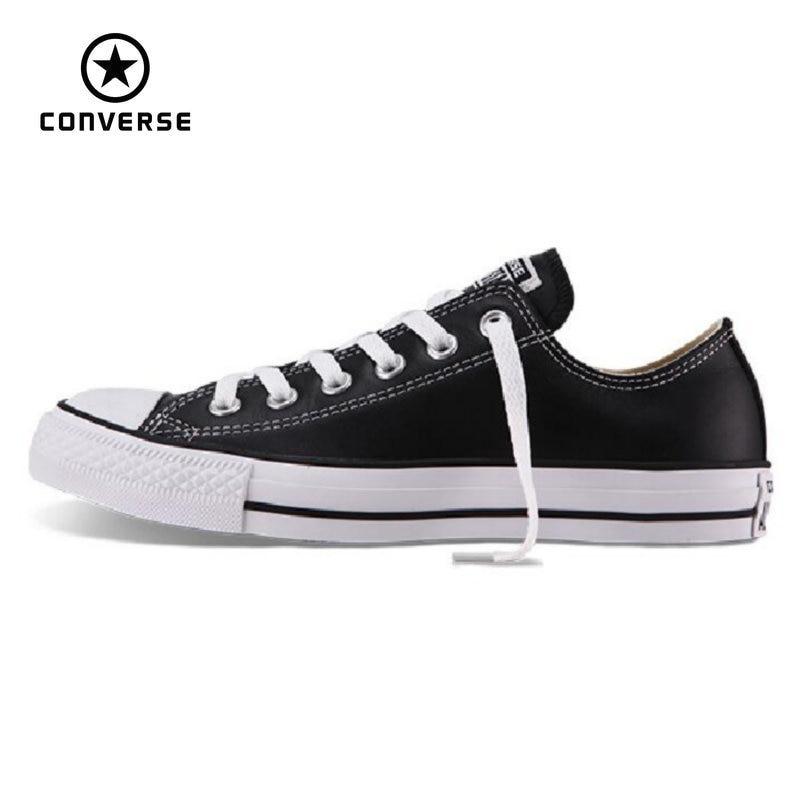 4318dbc8de27 100% original Converse all star Chuck Taylor pu leather canvas shoes men  women sneakers low