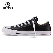 100% original Converse all star Chuck Taylor pu leather canvas shoes men women sneakers low classic Skateboarding Shoes 103770