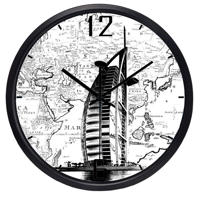 Dubai time world map large decorative wall clock 2018 new arrival dubai time world map large decorative wall clock 2018 new arrival quartz clocks fashion watches gumiabroncs Gallery