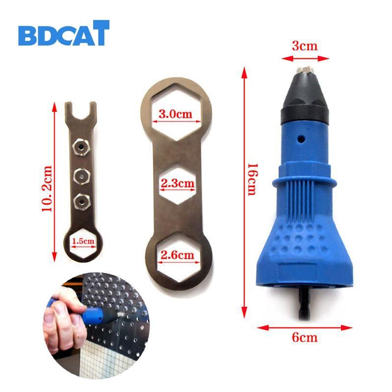 Elektriline needi pähklipütt neetimisriist juhtmeta adapter Sisesta mutteri tööriist neetide puurmasin
