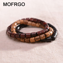 New Fashion Natural Wooden Beaded Charm Stretch Bracelet For Man Women Lucky Handmade Healing Balance Yoga Beads Bracelet Gift(China)