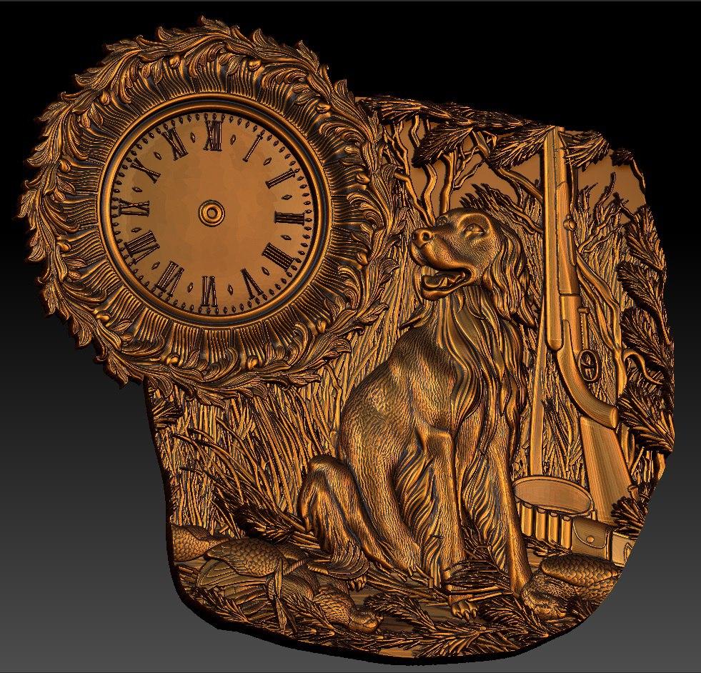 Digital File In STL Format Clock For CNC 3D Relief Carving Engraving C36-14