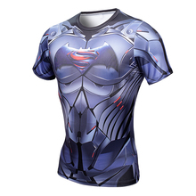 3D Men Superman Crossfit Compression Bodybuilding T-Shirt