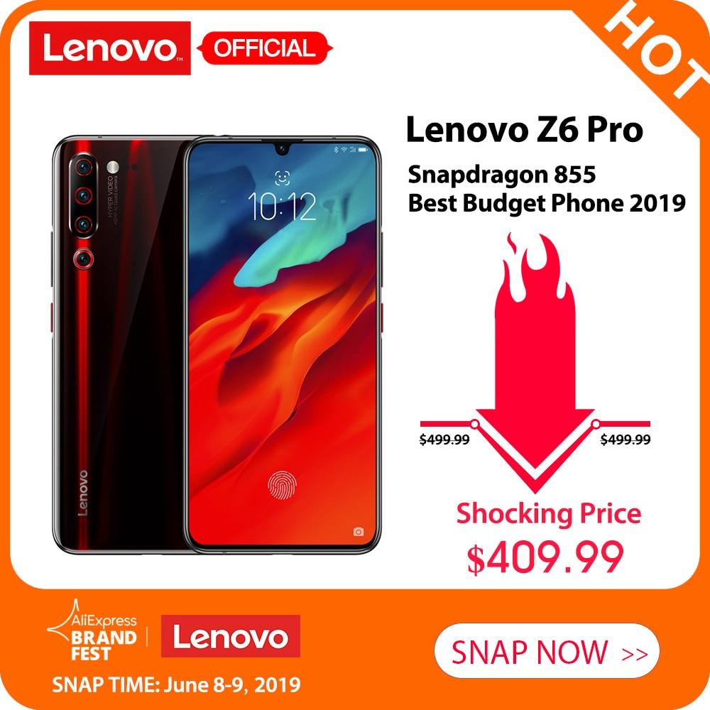 Global Version Lenovo Z6 Pro 6GB / 8GB + 128GB 4000mah Snapdragon 855 Mobile Phone 6.39'' 48MP Quad Cameras 4K Video Smartphone
