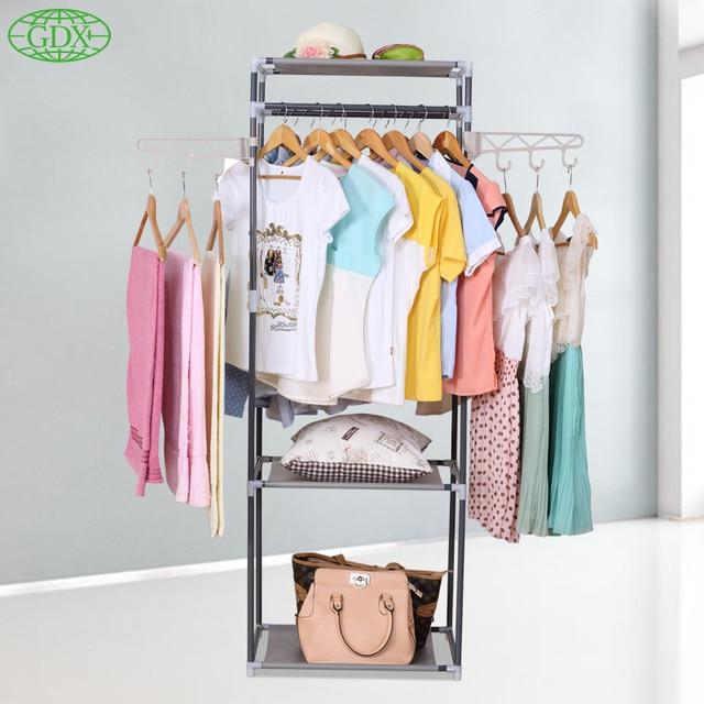 GDX New Multi Functional Coat Closet Hangers Storage Holder .