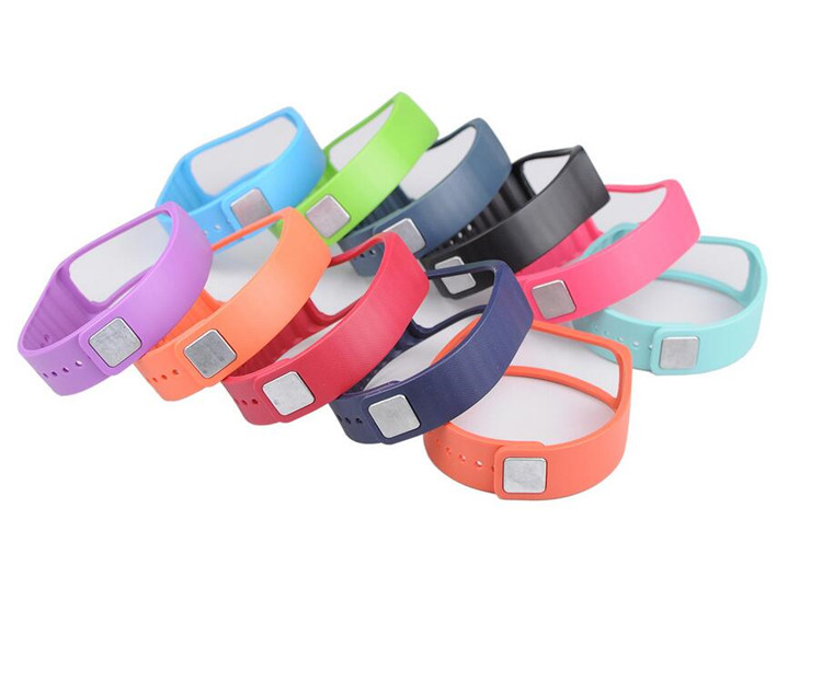 100pcs Replacement TPU WristBand For SAMSUNG GEAR Fit R350 Smart Bracelet Wrist Band Strap with Metal