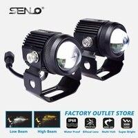 Universal Led Headlight Work Fog Lamp Light Anti Fog 15W Dual Color for BA20D H4 T19 Moto ATV SUV Jeep Tractor Yacht Truck M1