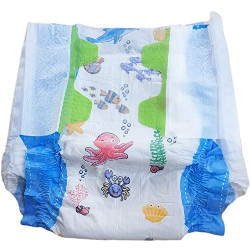 TEN@NIGHT Adult Baby Diaper One time Diaper ABDL Incontinence Underwear DDLG 8 Pieces in Pack