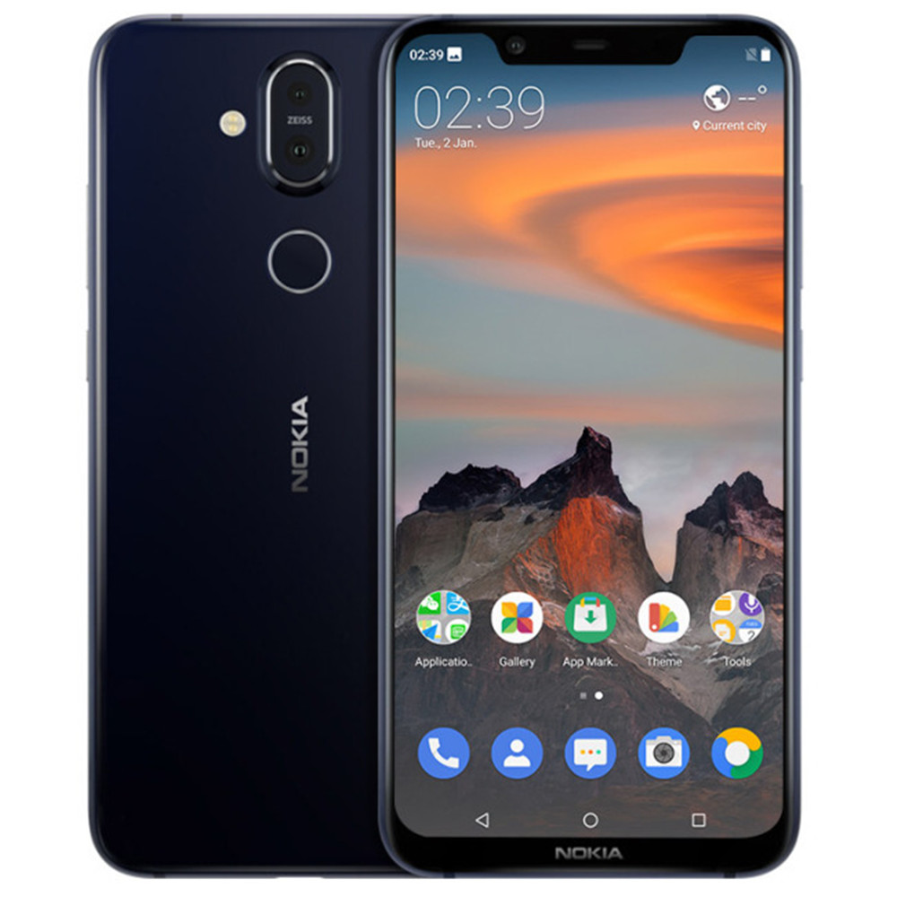 NOKIA X7 TA-1131 4 gb RAM 64 gb ROM Snapdragon 710 2.2 ghz Octa Core 6.18 pouce Écran double Caméra Android 8.1 4g LTE Smartphone