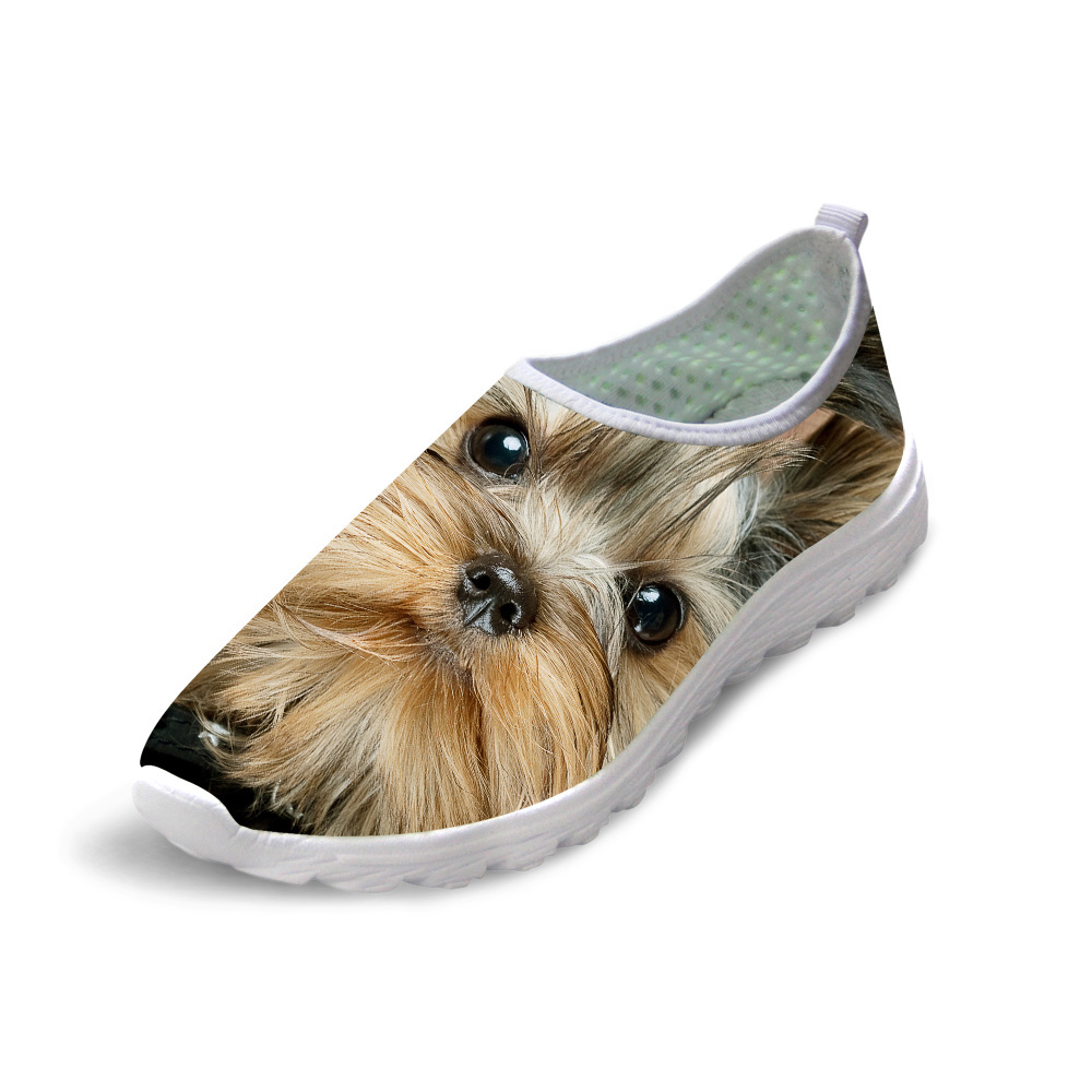NOISYDESIGNS Women Autumn Summer Mesh Shoes Slip-on Lightweight Breathable Casual Shoes 3D Animal Dog Cat Print Beach flat ShoesNOISYDESIGNS Women Autumn Summer Mesh Shoes Slip-on Lightweight Breathable Casual Shoes 3D Animal Dog Cat Print Beach flat Shoes