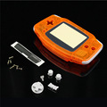 Transparent Orange Clear Full Set Repalcement Housing Shell Case Cover Frame For Nintendo For GameBoy Advance For GBA