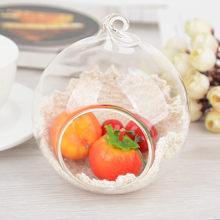 2Pcs Crystal Glass Hanging Holder Candlestick Home Wedding Party Dinner Decor Dropshipping Apr18(China)