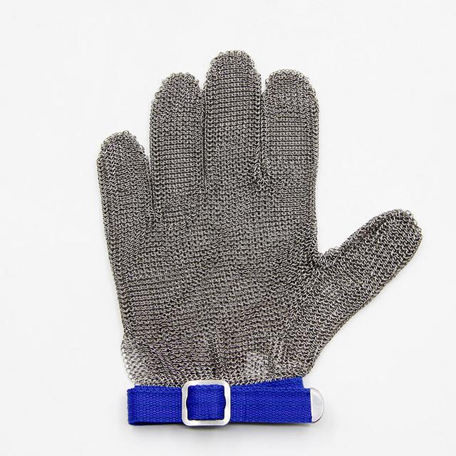 O novo 2016 de metal fio de aço luva super nível 5 corrosão resistir corte corte guantes luva açougueiro