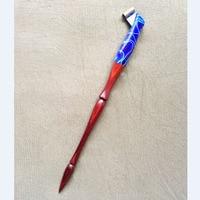 10pieces for a lot High Quality Handmade Rose Wood Blue Magic Oblique Calligraphy Nib Dip Pen Copperplate Script Dip Pen Holder