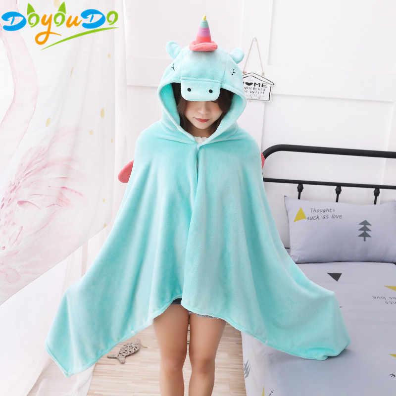 1 pcs 90*190 cm Colorido Unicórnio Brinquedo de Pelúcia Cobertor Manto Crianças Brinquedos Festa de Halloween Adereços Presentes de uma Menina Em Casa decoração