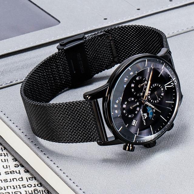 MEGALITH Sport Chronograph Watch Men Fashion Waterproof Montre Homme Men Date Analogue Quartz Wristwatch Clock Relogio Masculino