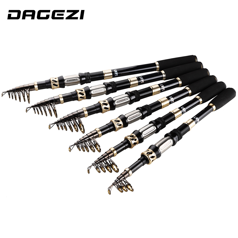 DAGEZI Carbon Fiber Telescopic Fishing Rod superhard Spinning Rod Saltwater Fishing Travel Rod ultrashort fishing Rods
