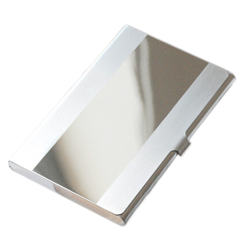 Stainless Steel Aluminum Case Transmission Case Commercial Business Card Credit Card holder medium mirror