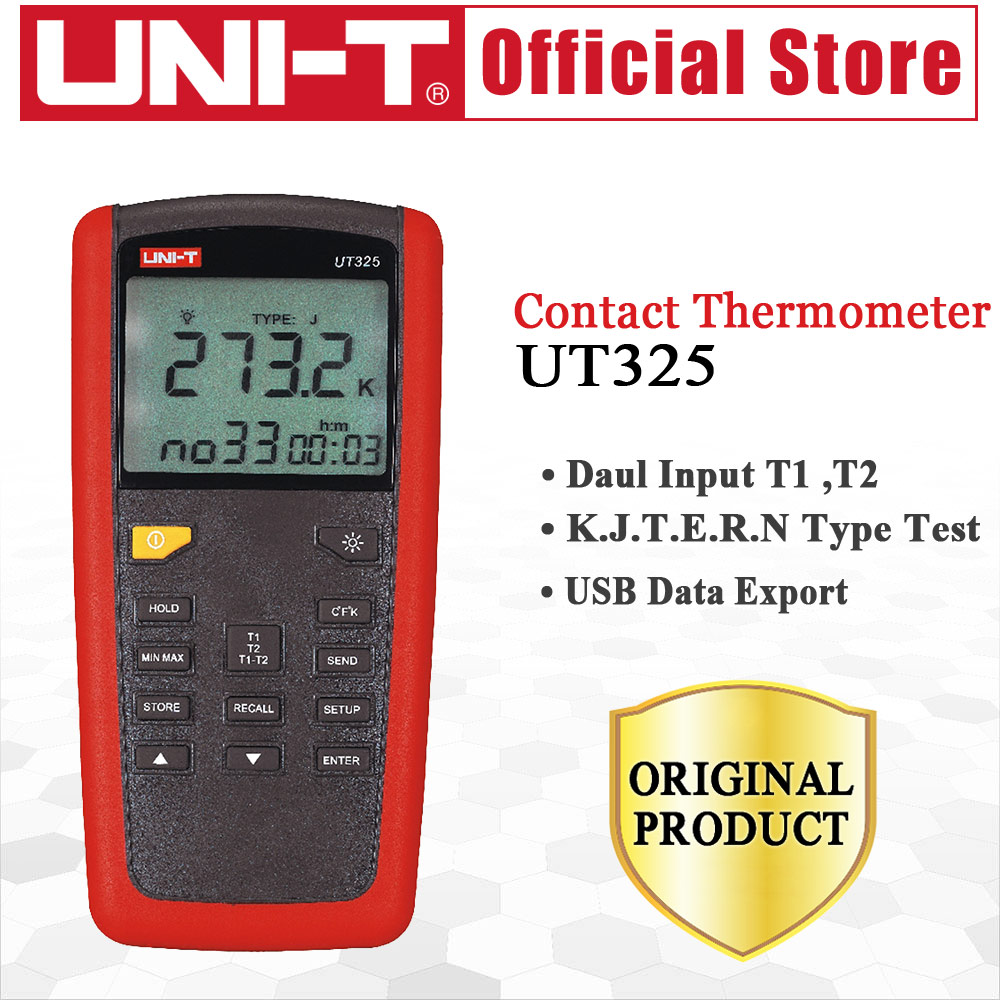 UNI-T UT325 Contact Type Termometers Range -200~1375 USB Interface Industrial Temperature Test Selection Type K.J.T.E.R.S.NUNI-T UT325 Contact Type Termometers Range -200~1375 USB Interface Industrial Temperature Test Selection Type K.J.T.E.R.S.N