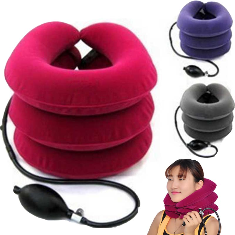 High quality massage neck traction device PNEUMATIC Neck Cervical Traction Brace Device neck massager For Head Shoulder Pain usb heating new neck cervical traction device collar head back shoulder neck pain headache health care massage device