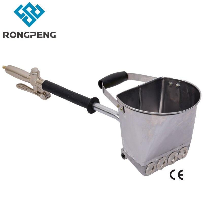 Rongpeng ciment mur mastic, stuc ciment mortier pulvérisation trémie pistolet mortier pulvérisateur plâtre pour mur avec 4 trous