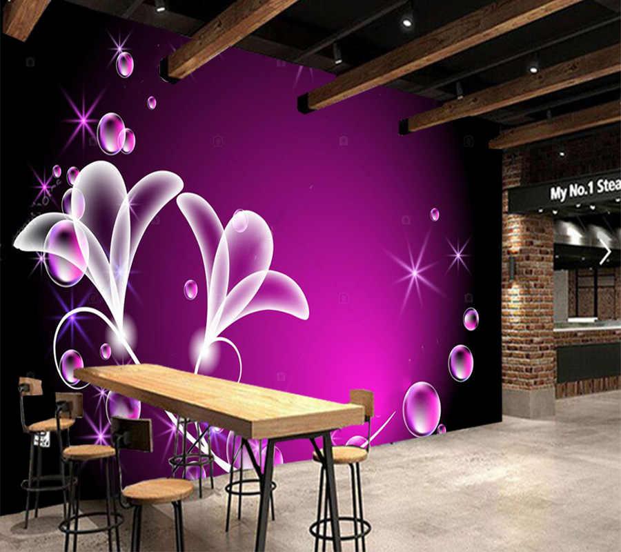 カスタム写真の壁紙、ファンタジー花と泡の壁画背景装飾防水壁紙