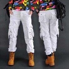 Новое поступление, Модные Стильные демисезонные камуфляжные штаны, свободные джинсы, мешковатые брюки-карго для женщин и девочек