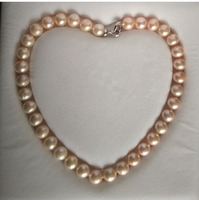 0002067 Large freshwater pearl necklace 11 12mm,white,pink,purple (A0322) women wedding Noble style