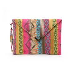 BARHEE Brand Bohemia National geometric canvas bags Envelope package ethnic styl