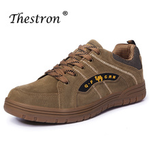 Man Outdoor Sneakers Spring Autumn Mens Hiking Shoes Brown Trekking Shoes Men Comfortable Travel Male Sneakers недорого