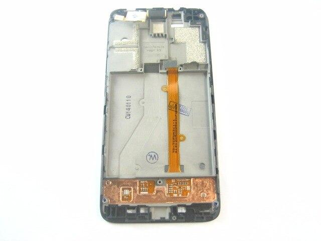 Замена Полный ЖК-Дисплей + Сенсорный Экран Digitizer + Рамка для Alcatel OneTouch Idol Mini OT-6012 Черный