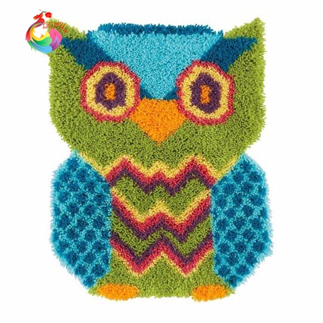 Owl Painting Latch Hook Rug Kits Rugs And Carpets Yarn For Knitting Embroidery Crochet Felt