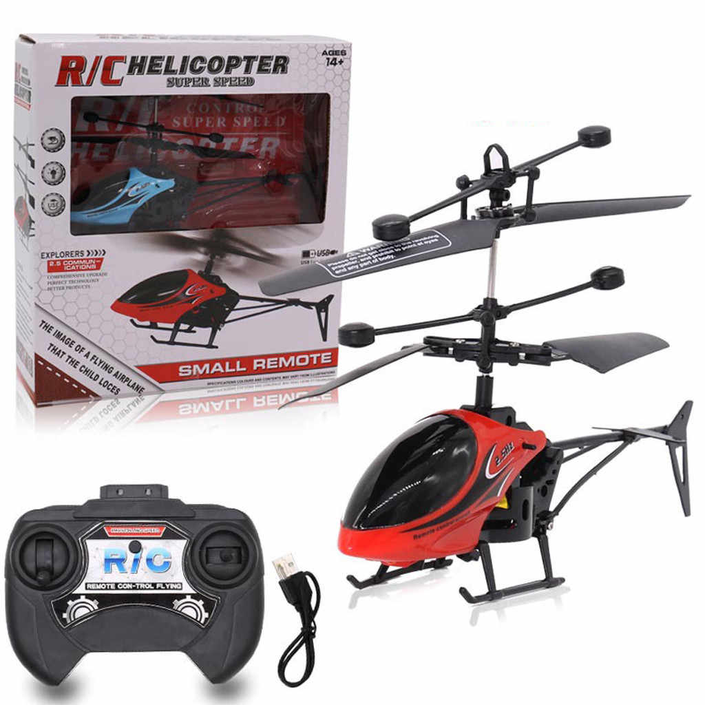 Afstandsbediening Mini RC Infrarood Inductie Afstandsbediening RC Speelgoed 2CH Gyro Helicopter RC Drone Radio controlled machines