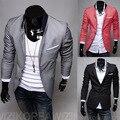 Men Blazer 2014 New Men's Clothing Spring / Autumn Korean Style Slim Jacket Solid Color Pocket Long Sleeve Suit Male M/L/XL/XXL