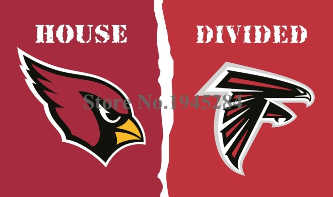 NFL Arizona Cardinals Atlanta Falcons House Divided Flag 3x5ft 150x90cm Polyester Flag Banner, free shipping