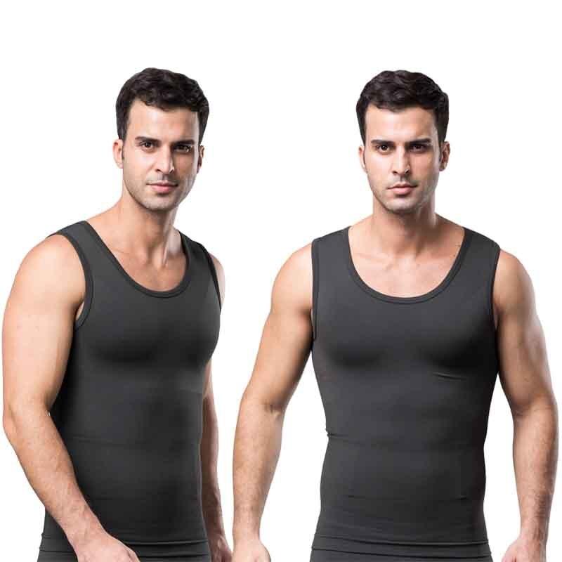 New Men Body Shaper Tummy tucker Sleeveless Vest