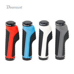 Deemount Bicycle Grips Ergonomic Bar End Firm Mount Both Ends Lock Grip Handlebar 2 Color Tone Holder MTB Cycling Hand Rest