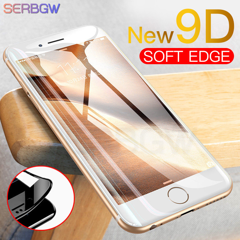 New 9D Full Cover Tempered Glass On The For IPhone X XR XS 11 Pro Max Screen Protector For IPhone 8 7 6 6s Plus Protection Film