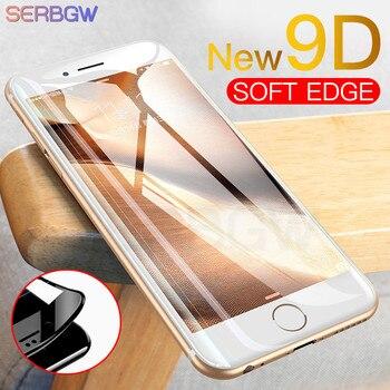 Nuevo 9D cristal templado cubierta completa para iPhone X XR XS 11 Pro Max Protector de pantalla para iPhone 8 7 6 6s Plus película de protección