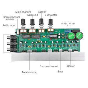 Image 4 - AIYIMA LM1875 5.1 Channel Audio Amplifier Board Subwoofer Amplifiers DIY Sound System Speaker Home Theater 25W*6 Super TDA2030