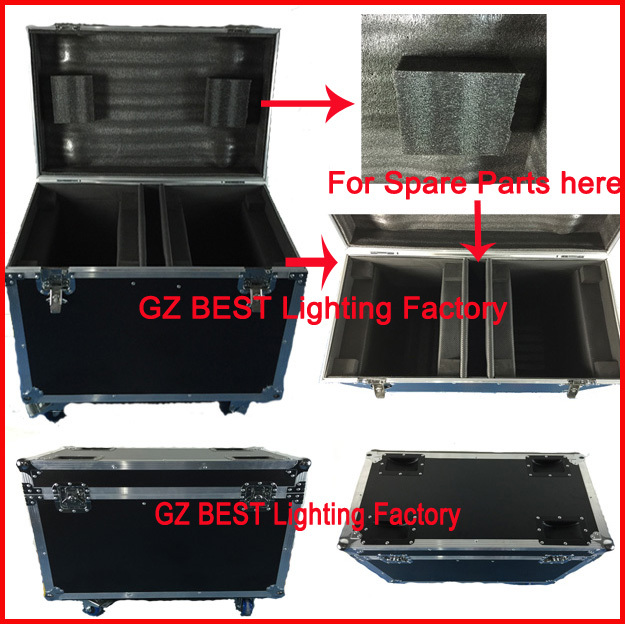 flight case for 2pcs Beam 200w or 230w moving head light sharpy 7r movinghead stage equipment show equipment standing flight tus 35 or