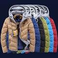 Новые Горячие Зимние Куртки Мужчины С Капюшоном Хлопок Вниз Куртка Марка плюс Размер 3XL Мужские Зимнее Пальто Человек Хлопка Телогрейки Droship