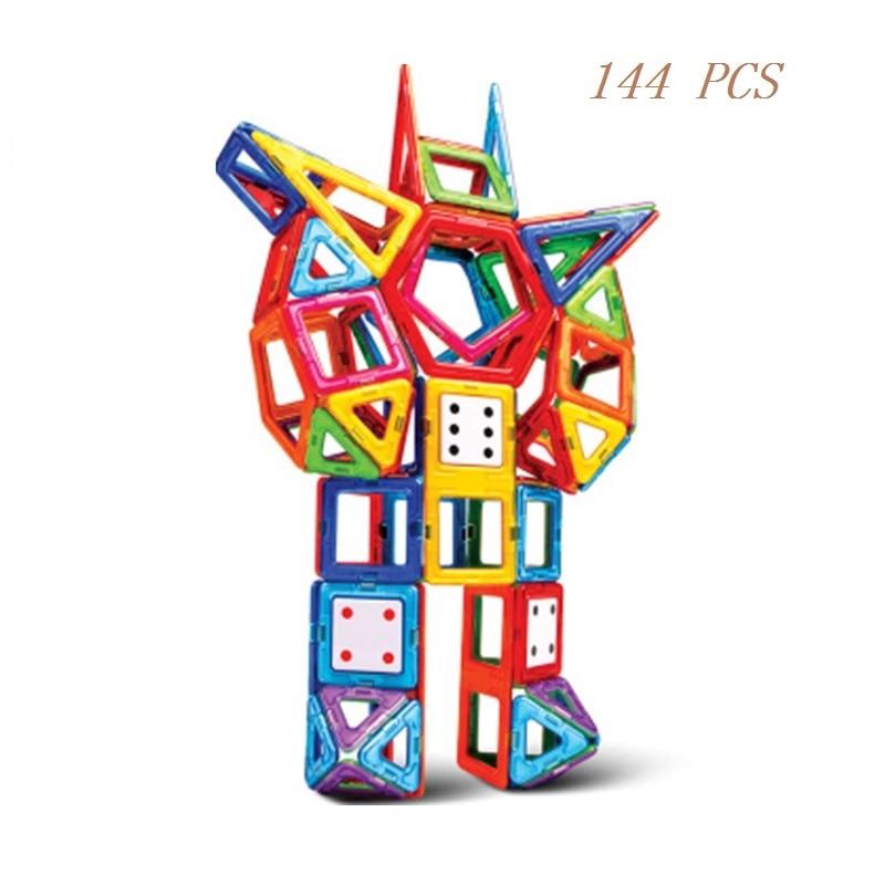 144PCS  Magnetic building blocks construction toys for toddlers Designer magnetic toys Magnet model & building toys enlighten susengo magnetic toy building enlighten block designer 358pcs magnet bars
