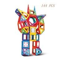 144PCS Magnetic building blocks construction toys for toddlers Designer magnetic toys Magnet model & building toys enlighten