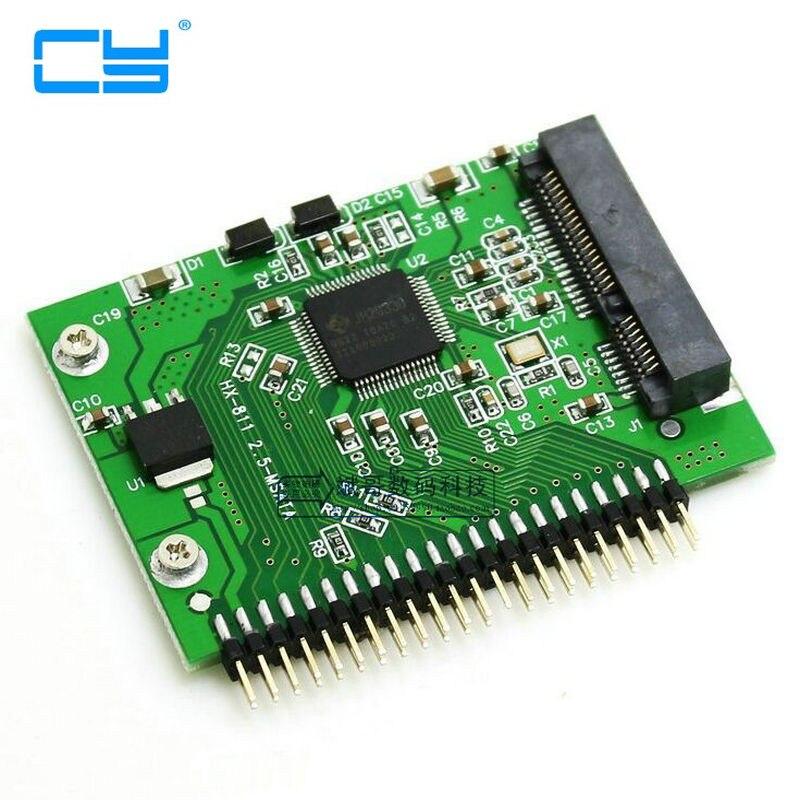 Mini PCI-e SSD Msata 1.8 para IDE 2.5 Polegada 5 V 44pin Msata PCI Express Adaptador de Cartao Conversor Sata Para O Portatil No