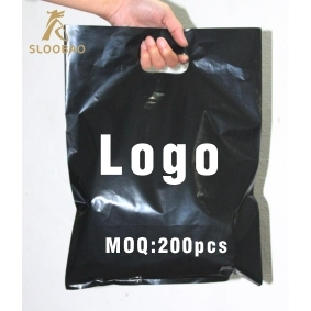 500 pcs Custom screen printing clothing bags punch handle shopping plastic  bag for garment plastic jewelry pouch Packing Gift Ca f5dd60c4a5